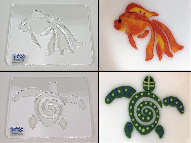 Glass Tattoo Stencils - Wardell Publications | Art Glass